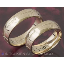 Anillo Oro 10 K Argollas Compromiso Matrimonio Bodas Amor