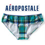 Envio Bikini Calzon Aeropostale Mediano Azul Verde Cuadros