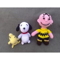 Snoopy,charlie Brown Y Woodstock Tejidos A Mano, Amigurumis