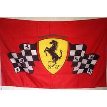 Bandera Ferrari A Cuadros, Carreras, Fórmula 1, F1,1.5m X 90