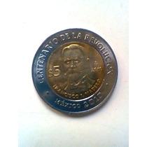 Madero Centenario De La Revolucion Moneda Mexicana 5 Pesos