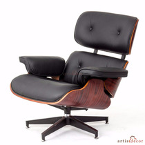 Silla Oficina Rosewood Lounge Asiento Negro Cómodo Sillon