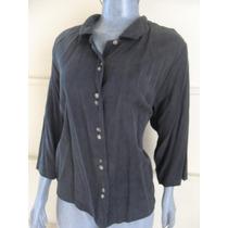 Blusa Moda Vintage Talla L Color Negro Marca Toofan