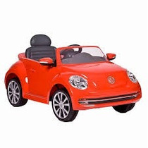 Montable Para Niños Volkswagen Beatle Rojo. Envío Gratis