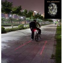 Luz Laser Y Lampara Led Para Bicicleta Baterias Incluidas