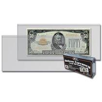 Paquete De 50 Micas Individuales Para Billetes Grandes Bcw