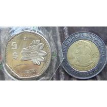 Moneda Mexico 5 Pesos 1982 Proof Muy Escasa
