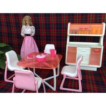 Barbie Juego De Comedor De Lujo Original De Los 80´s