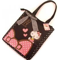 Bolsa/mochila/maleta/pañalera Hello Kitty Negra Sanrio Kawai