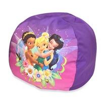 Puff Sillon Tinkerbell Kids Infantil Para Niñas Bebe