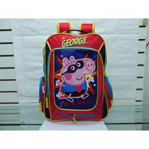 Mochila Escolar Super George Peppa Pig Kinder