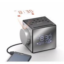 Sony Icfc1pj Radio Reloj De Am/fm Y Alarma Doble Plata