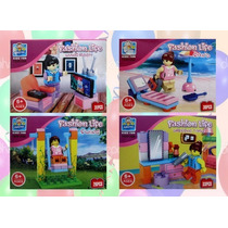 Friends 4 Pzs Minifiguras Para Niña - Compatible Con Lego