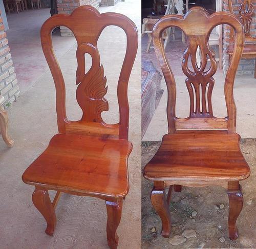 Sillas para comedores labradas madera de cedro 499 vizzk for Precios de sillas de madera para comedor