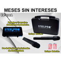 Steelpro Par De Micrófonos De Alta Fidelidad, Frecuencia Vhf