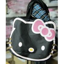 Mochila/bolsa/maleta/pañalera Hello Kitty Negra Cara Kawaii