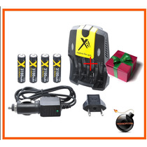 Cargador Baterias Recargable Aa/aaa+ac-dc 4 Pilas Aa 3100mah