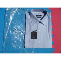 Camisa Vestir Caballero Azul Manga Larga Cavalier