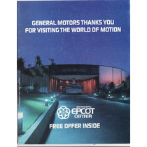 Folleto Publicitario Epcot General Motors