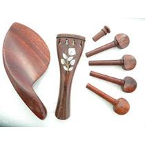 Accesorios Violín Rosewood Incrustación En Concha Nácar. Vbf
