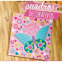 Cuadro Decorativo Modelo Butterfly Niñas Vianney Hermoso !