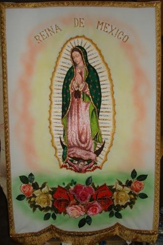 7a776293dd6 Estandartes Bordados Virgen De Guadalupe Y Otros.
