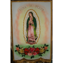 Estandartes Bordados Virgen De Guadalupe Y Otros.