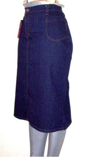 78ace048d9 Falda Mezclilla Tres Cuartos Maxi Stretch Tallas Extra A 48 en venta ...