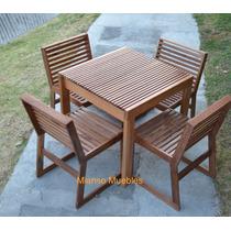 Remato mesas y sillas de madera para restaurante en - Mesa de madera exterior ...