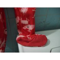 Mameluco Rojo Con Figuras Rosas Talla 3 Afelpado