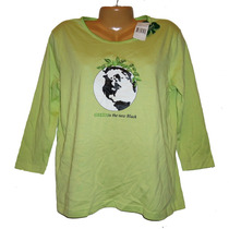 Blusa Top M Mediana Verde Playera Dama Ecologica Hermosa Ve!