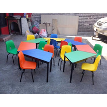 Paquete De Mobiliario Escolar Preescolar-kinder Oferta!!