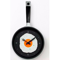 Reloj De Pared Para Cocina, Diseño Sarten Con Huevo.