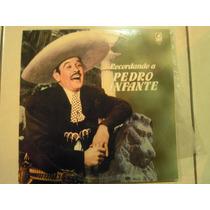 Pedro Infante Recordando A Lp Doble Con Poster Para Coleccio