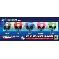 Set 5 Mini Cascos Mega Man Comic Con Capcom Limitados Epicus