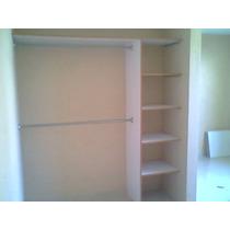 Closet Melamina C/ Puertas Blancas Corredizas $4,000-