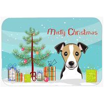 Árbol De Navidad Y Jack Russell Terrier De La Cocina O El B