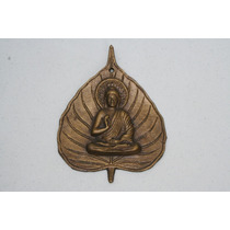 Buda Sentado En Hoja De Benian En Hierro Colado Y Bronce Bfn