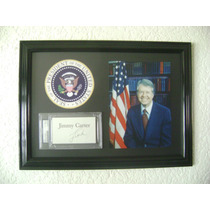 Autógrafo Original Del Ex Presidente Jimmy Carter Usa
