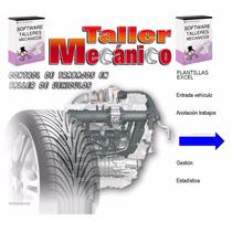 Plantilla Gestión Taller Mecánico Control Administración