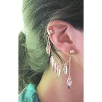Ear Cuff Piercing Hojas Arete Cartilago Punk Vintage