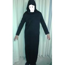 1 Tunica Sin Capucha Halloween Esqueleto Disfraz Muerte