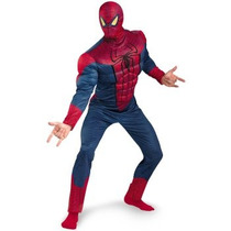Oferta Unica! Disfraz Amazing Spiderman Musculoso P/ Adultos