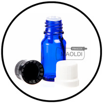 Frasco Gotero De Vidrio Azul 10ml 25 Pzas (envases, Inserto)