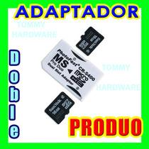 Adaptador Micro Sd A Memory Stick Pro Duo Para Psp Y Camaras