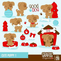 Kit Imprimible Perros 12 Imagenes Clipart