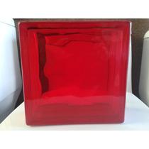 Vidrioblock Domos Baño Rojo De 19x19x08 Maa