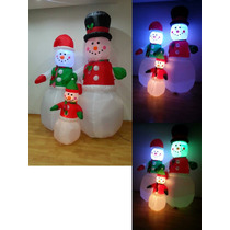 Inflable Gigante Navidad Frosty Muñeco Niev Navideño Luz Led