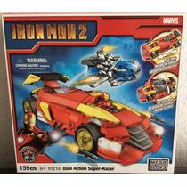 Iron Man 2 Dual Action Súper-racer Marvel Megabloks 159pcs
