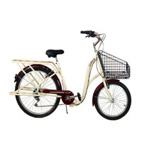 Bicicleta De Mujer Retro Doble Rodada 26 /20 Bici Vintage